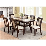 Brent 7 Piece Dining Room Set by Furniture of America - FOA-CM3984W-T