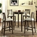 Dwight II 5 Piece Bar Table Dining Set by Furniture of America - FOA-CM3988GY-BT