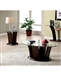 Manhattan IV 2 Piece Occasional Table Set in Dark Cherry by Furniture of America - FOA-CM4104-2PK