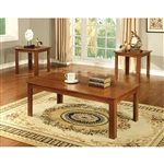 Harrison 3 Piece Occasional Table Set in Medium Oak by Furniture of America - FOA-CM4105A-3PK