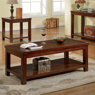 Estell 2 Piece Occasional Table Set in Dark Cherry by Furniture of America - FOA-CM4107-2PK