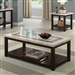 Rosetta 2 Piece Occasional Table Set in Dark Walnut by Furniture of America - FOA-CM4186-2PK