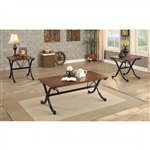 Sabine 3 Piece Occasional Table Set in Dark Oak by Furniture of America - FOA-CM4322-3PK