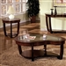 Crystal Falls 2 Piece Occasional Table Set in Dark Cherry by Furniture of America - FOA-CM4336-2PK