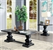 Mirabel 2 Piece Occasional Table Set in Antique Black by Furniture of America - FOA-CM4341-2PK