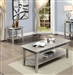 Celestine 2 Piece Occasional Table Set in Silver by Furniture of America - FOA-CM4347-2PK