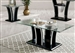 Staten 2 Piece Occasional Table Set in Glossy Black/Chrome by Furniture of America - FOA-CM4372BK-2PK