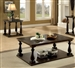 Luan 2 Piece Occasional Table Set in Dark Walnut by Furniture of America - FOA-CM4420-2PK