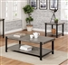 Huckleberry 2 Piece Occasional Table Set in Gray Wash/Sand Black by Furniture of America - FOA-CM4618-2PK