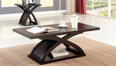 Arkley 2 Piece Occasional Table Set in Espresso by Furniture of America - FOA-CM4641-2PK