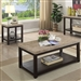 Calgary 2 Piece Occasional Table Set in Dark Walnut/Ivory by Furniture of America - FOA-CM4861-2PK