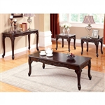 Cheshire 3 Piece Occasional Table Set in Cherry by Furniture of America - FOA-CM4914-3PK
