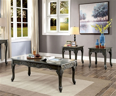 Cheshire 3 Piece Occasional Table Set in Gray by Furniture of America - FOA-CM4914GY-3PK