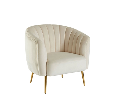 Dionne Chair in Ivory by Furniture of America - FOA-CM5100IV-CH