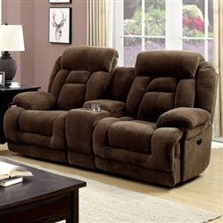 Grenville Power-Assist Love Seat in Brown by Furniture of America - FOA-CM6010-LV-PM