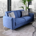 Lauritz Love Seat in Blue by Furniture of America - FOA-CM6088-LV