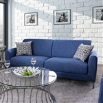 Lauritz Sofa in Blue by Furniture of America - FOA-CM6088-SF