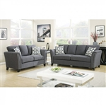 Campbell 2 Piece Sofa Set in Gray by Furniture of America - FOA-CM6095GY