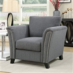 Campbell Chair in Gray by Furniture of America - FOA-CM6095GY-CH