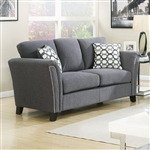 Campbell Love Seat in Gray by Furniture of America - FOA-CM6095GY-LV