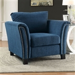 Campbell Chair in Dark Teal by Furniture of America - FOA-CM6095TL-CH