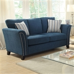 Campbell Love Seat in Dark Teal by Furniture of America - FOA-CM6095TL-LV