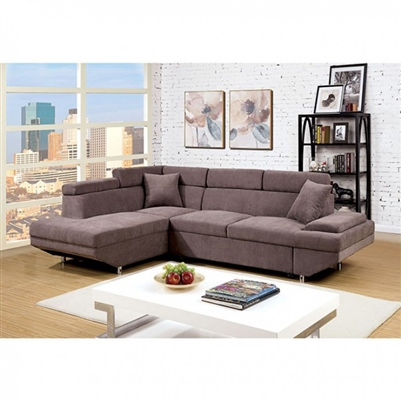 Foreman Sectional Sofa in Brown by Furniture of America - FOA-CM6125BR
