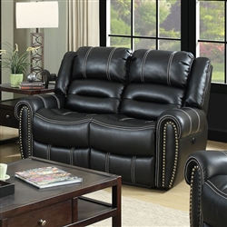 Frederick Power-Assist Love Seat in Black by Furniture of America - FOA-CM6130-LV-PM