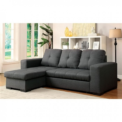Denton Sectional in Gray by Furniture of America - FOA-CM6149GY