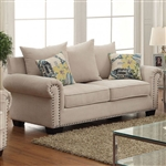 Skyler Love Seat in Ivory by Furniture of America - FOA-CM6155-LV
