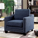 Kerian Chair in Chenille by Furniture of America - FOA-CM6157BL-CH
