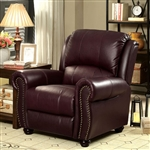 Turton Chair in Burgundy by Furniture of America - FOA-CM6191BY-CH