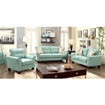 Claire 2 Piece Sofa Set in Blue by Furniture of America - FOA-CM6266BL