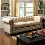 Stanford Sofa in Ivory by Furniture of America - FOA-CM6269IV-SF