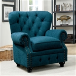 Stanford Chair in Dark Teal by Furniture of America - FOA-CM6269TL-CH