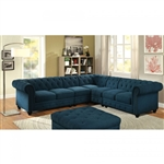 Stanford II Sectional Sofa in Teal by Furniture of America - FOA-CM6270TL