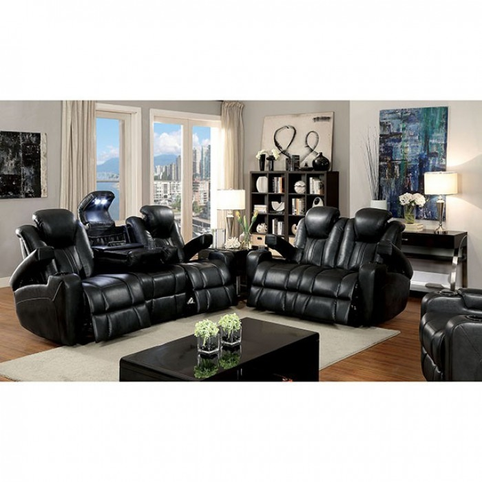 Zaurak 2 Piece Recliner Sofa Set in Dark Gray by Furniture of America -  FOA-CM6291