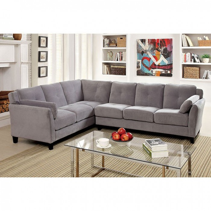 Peachy Peever Ii Sectional Sofa By Furniture Of America Foa Cm6368 Camellatalisay Diy Chair Ideas Camellatalisaycom