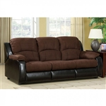 Grande Sofa with Queen Size Sleeper in by Chocolate Furniture of America - FOA-CM6500