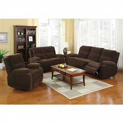 Haven 2 Piece Recliner Sofa Set in Dark Brown by Furniture of America - FOA-CM6554