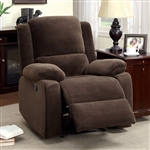Haven Recliner in Dark Brown by Furniture of America - FOA-CM6554-C