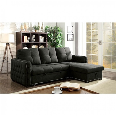 Demi Sectional Sofa in Dark Gray by Furniture of America - FOA-CM6562