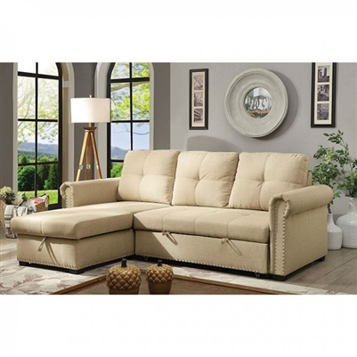 Carter Sectional Sofa in Beige by Furniture of America - FOA-CM6569