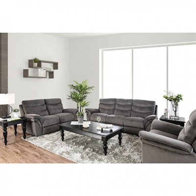 Hamlin 2 Piece Recliner Sofa Set in Gray by Furniture of America - FOA-CM6574