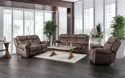 Celia 2 Piece Sofa Set in Brown by Furniture of America - FOA-CM6583