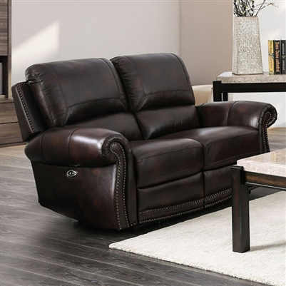 Edmore Power-Assist Love Seat in Brown by Furniture of America - FOA-CM6586-LV-PM