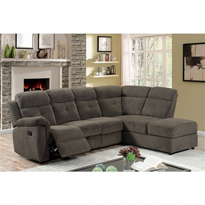 Avia Sectional Sofa in Gray by Furniture of America - FOA-CM6597