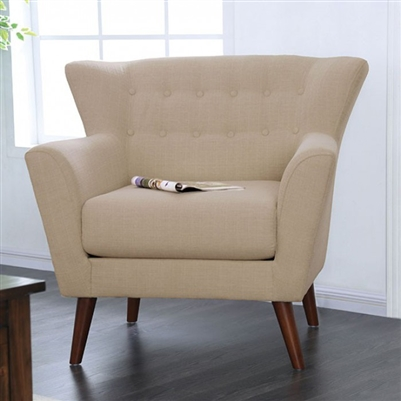 Brecker Chair in Beige by Furniture of America - FOA-CM6607-CH