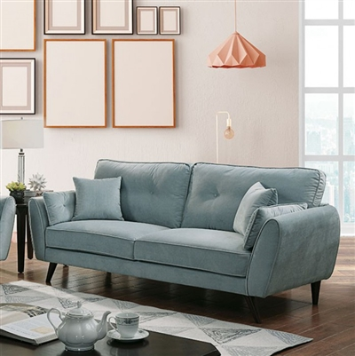 Phillipa Sofa in Light Teal by Furniture of America - FOA-CM6610-SF