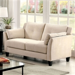 Ysabel Love Seat in Beige by Furniture of America - FOA-CM6716BG-LV